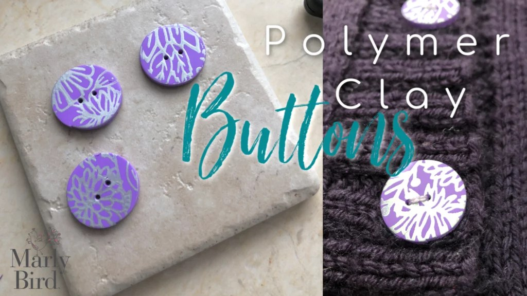 Polymer Clay Buttons-Tutorial using Sculpey clay and silk screens