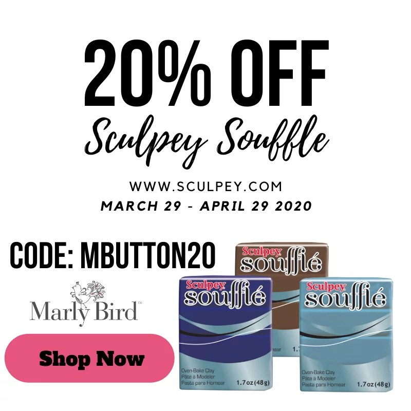 Polymer Clay Buttons-Sculpey Souffle coupon code