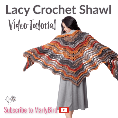 Lacy Crochet Shawl | Feather and Fan Wave