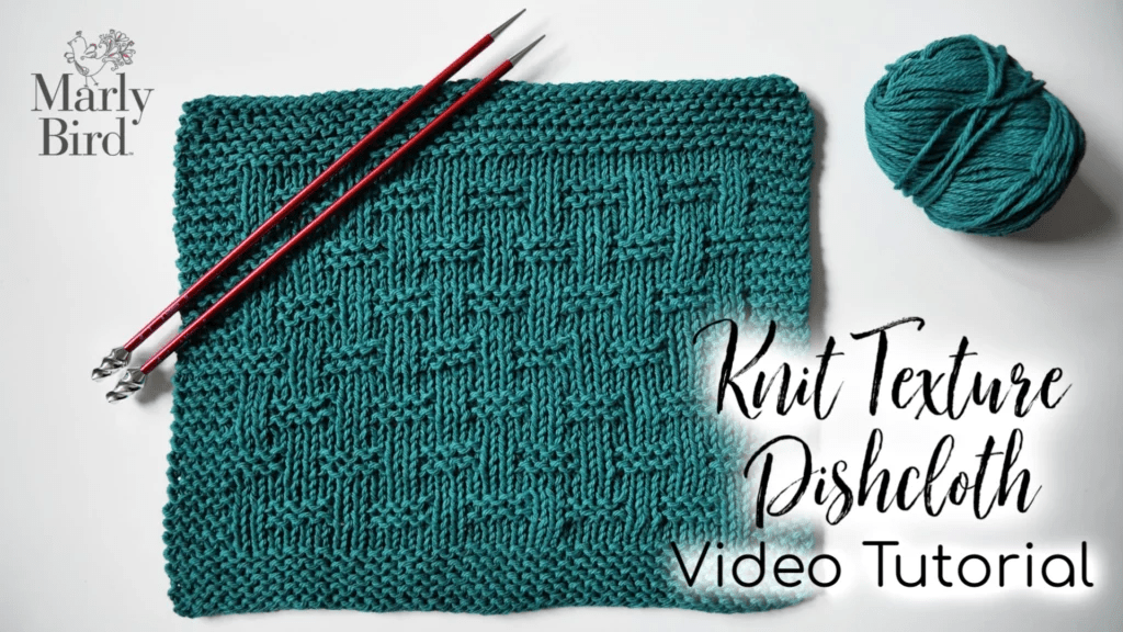 Knit Texture Dishcloth Video Tutorial