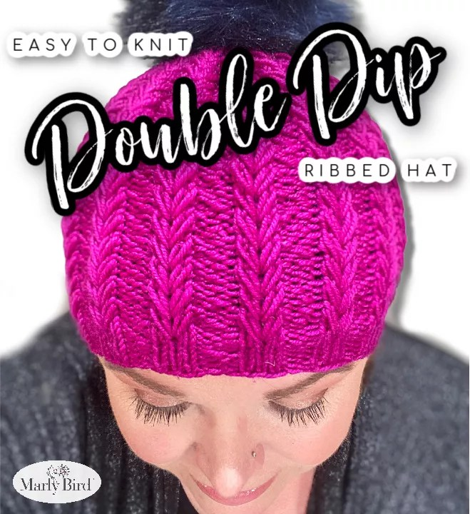 Double Dip Ribbed Hat by Marly Bird - Free Knit Hat Pattern
