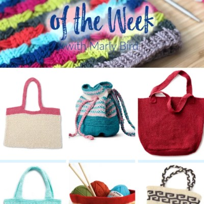 10 FREE Knit Bag Patterns