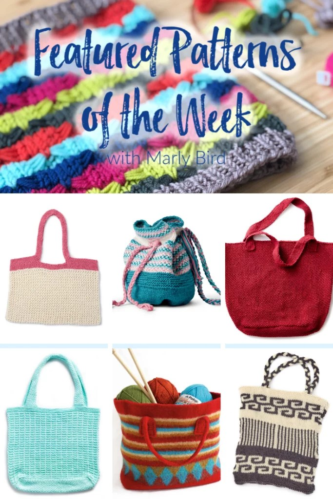 FREE Knit Bag Patterns from Yarnspirations
