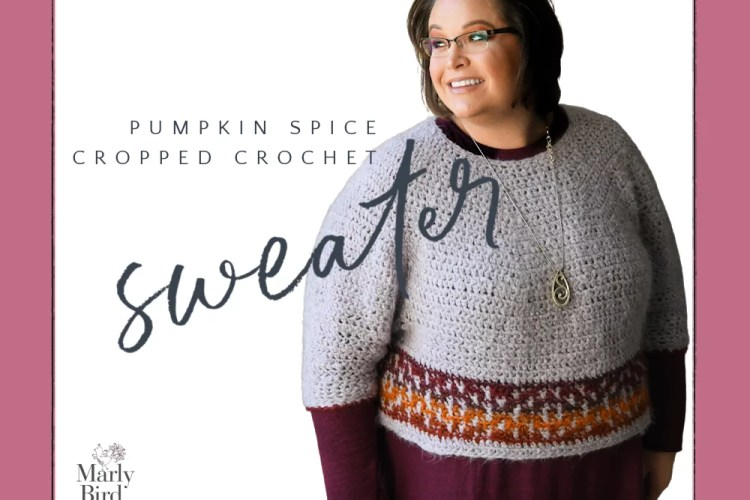 cropped crochet sweater free pattern