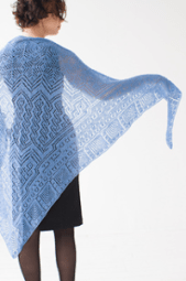 Mystic Waters was Anna Dalvi's first design for her  popular Mystery Knit-a-Long.