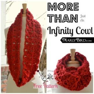 More Than Just An Infinity Cowl Free Pattern at www.MarlyBird.com