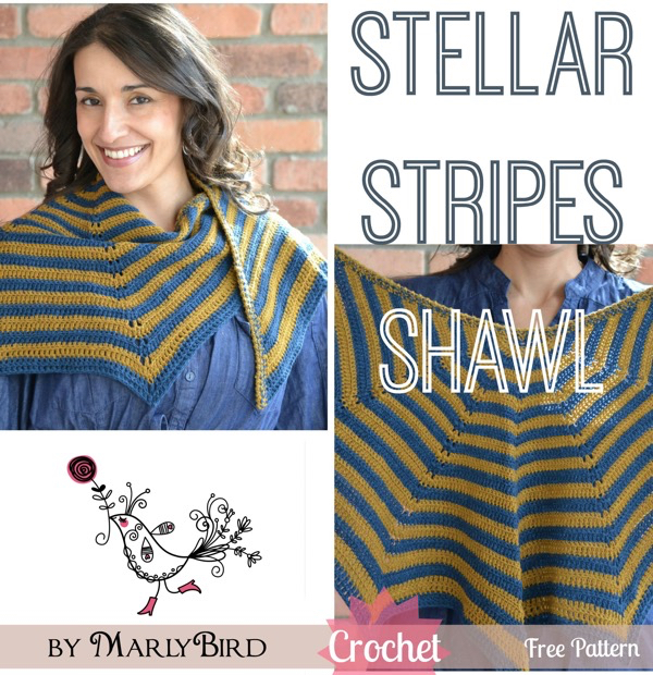 Stellar Stripes Crochet Shawl Marly Bird