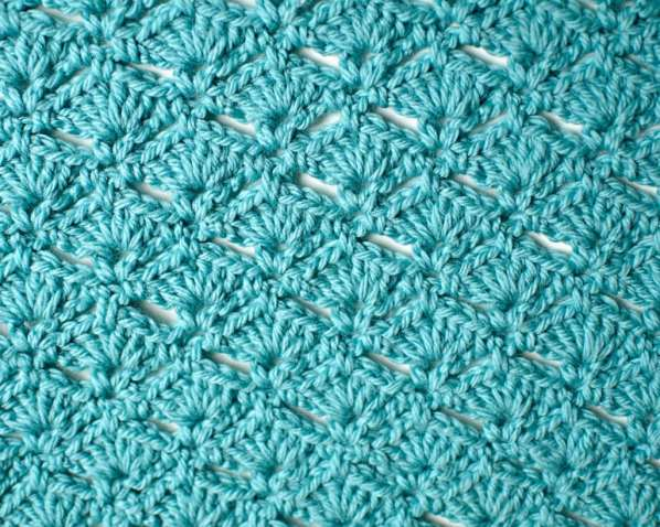Crochet Stitch Sampler Baby Blanket by Marly Bird. Free Pattern--Fan Tail Crochet Stitch