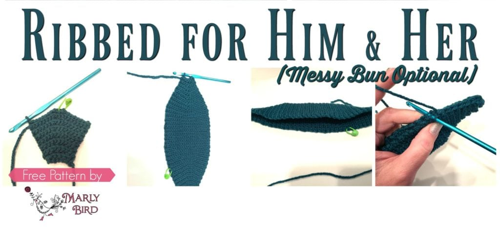The Perfect Brim for a Free Crochet Messy Bun Hat Pattern by Marly Bird