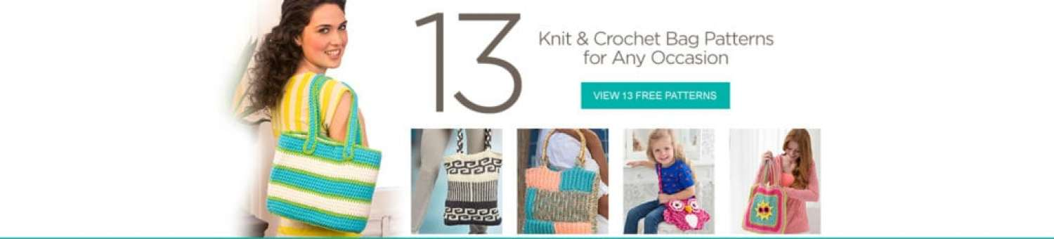 Red Heart FREE Knit and Crochet Bag Patterns
