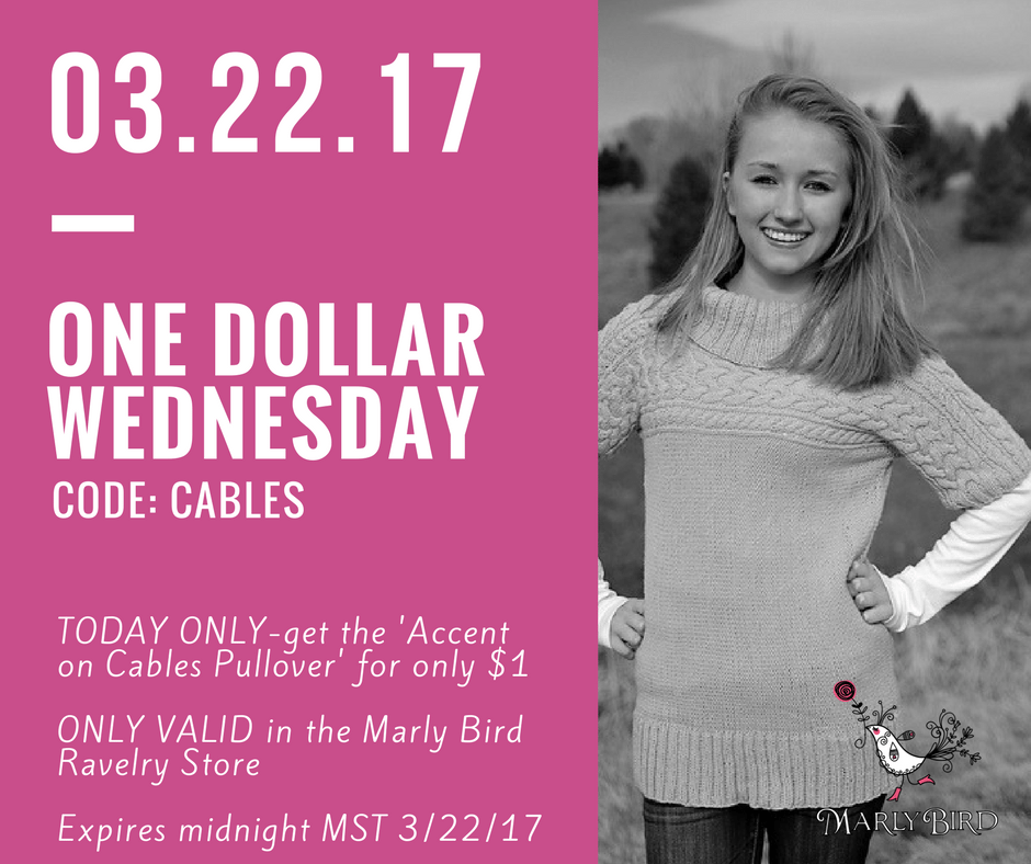 $1 Wednesday-Accent on Cables by Marly Bird