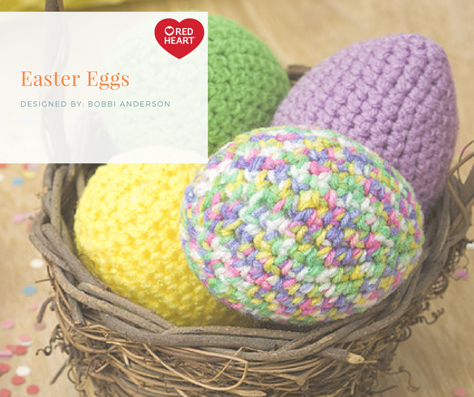 Red Heart Free Pattern Easter Eggs