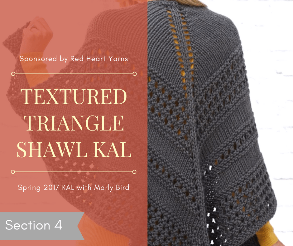 Textured Triangle Shawl KAL