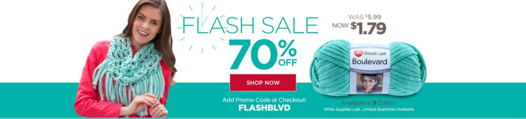Flash Sale on Red Heart Boutique Boulevard