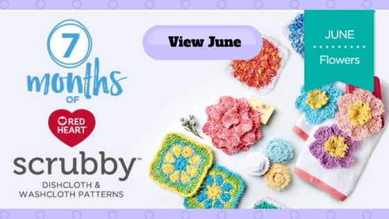 Red Heart 7 Months of Scrubby June Flowers