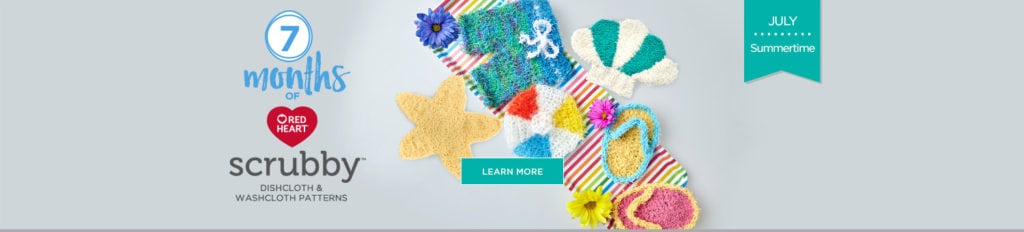 Red Heart 7 Months of Scrubby Campaign-Free Patterns