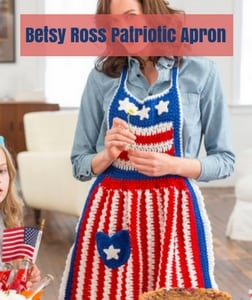 Betsy Ross Patriotic Apron Free Patriotic Crochet Pattern from Red Heart