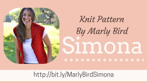 Simona Knit Vest Pattern by Marly Bird