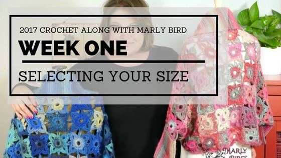 Marly Bird and Red Heart 2017 Crochet Along-Granny Square Sweater