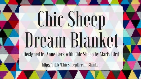 Chic Sheep Dream Blanket using Chic Sheep by Marly Bird