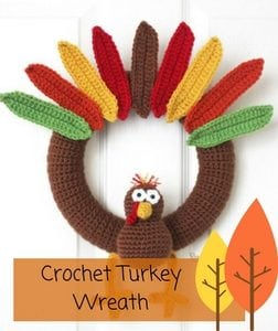 Crochet Turkey Wreath