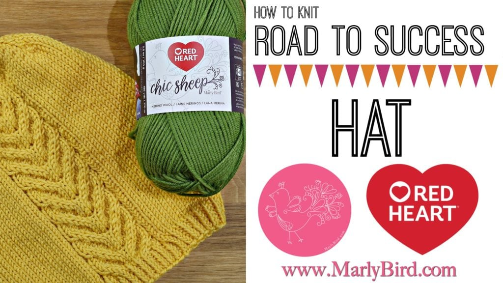 How to Knit the Road to Success Hat-Video Tutorial with Marly Bird