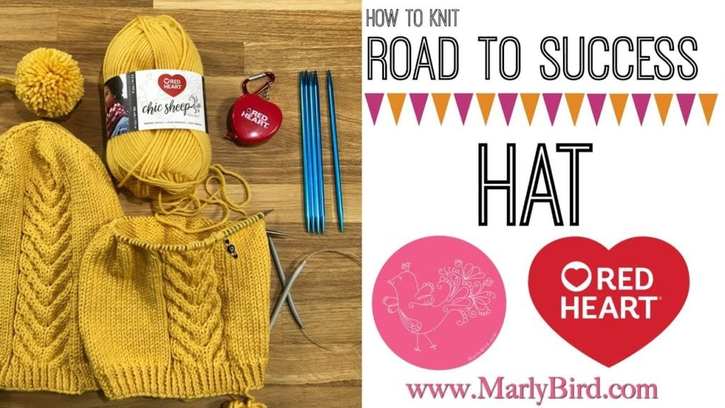 Video Tutorial How to knit the Road to Success Chic Hat