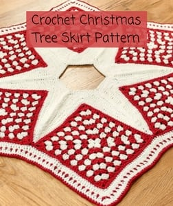 Free Crochet Christmas Tree Skirt Pattern-Crochet Christmas Tree Skirt Pattern