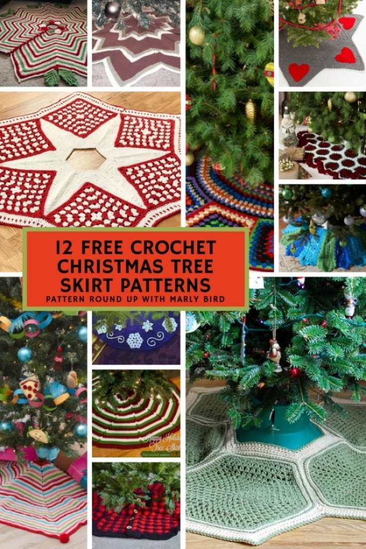 crochet christmas tree skirts