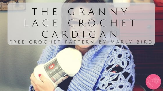 FREE Pattern-Granny Lace Crochet Cardigan with Marly Bird