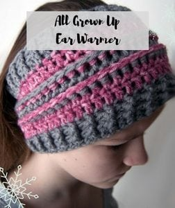 FREE Knit and Crochet Winter Fun Patterns-All Grown Up War Warmer
