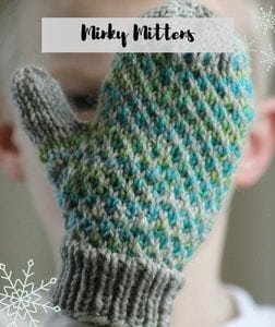 Free Knit and Crochet Winter Fun Patterns-Minky Mittens