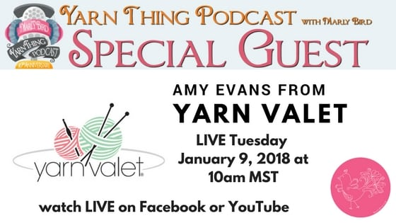 Marly Bird Podcast with Guest Yarn Valet