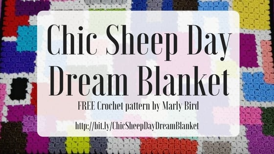 Chic Sheep Day Dream Blanket-FREE Chic Sheep Crochet Blanket by Marly Bird