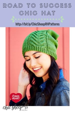 Road to Success Chic Hat Knit Hat Designed with Chic Sheep by Marly Bird