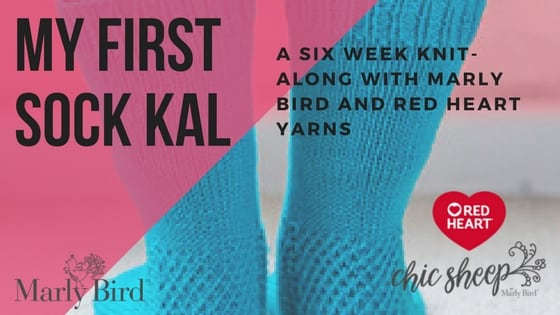 Announcing the 2018 Red Heart and Marly Bird Knit-Along My First Socks KAL
