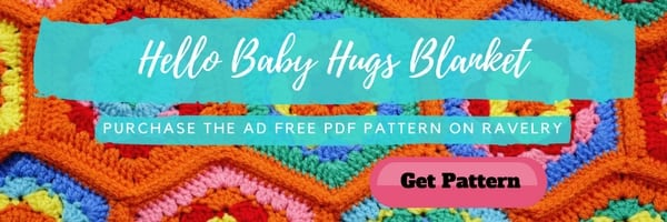Ad Free PDF on Ravelry of the Hello Baby Hugs Blanket by Marly Bird