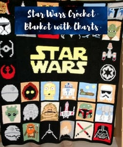 Star Wars Crochet Blanket with Charts