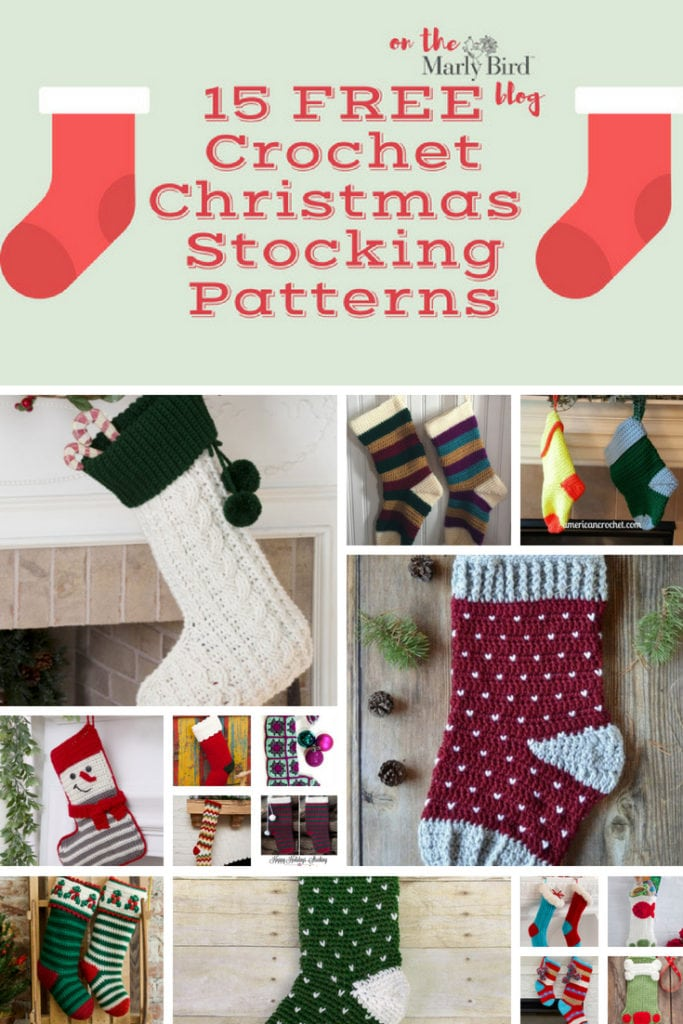 15 Free Crochet Christmas Stockings Patterns Marly Bird