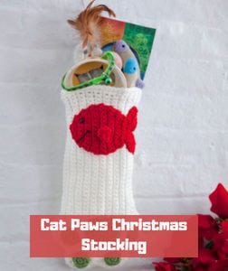Cat Paws Christmas Stocking by Michele Wilcox