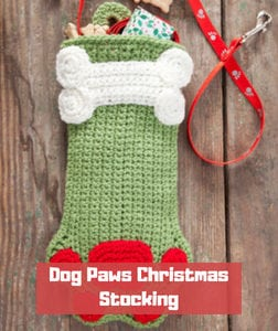 Dog Paws Christmas Stocking by Michele Wilcox