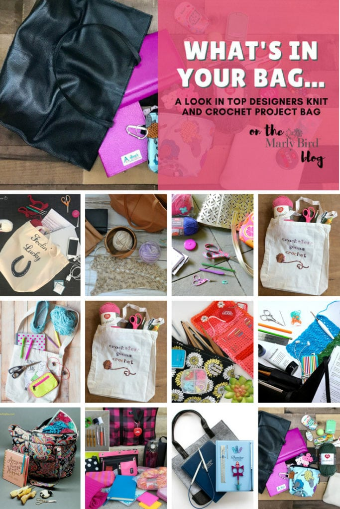 What's in your Bag. A look in top designers knit and crochet project bags.