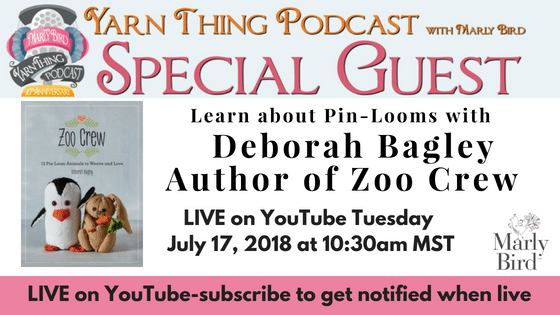 Yarn Thing Podcast with Marly Bird and Guest Debora Bagley author of Zoo Crew
