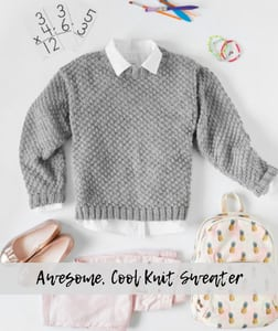 Awesome, Cool Knit Sweater-FREE pattern from Red Heart