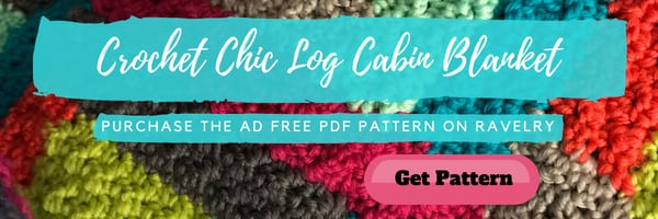 Ad FREE PDF download of the Crochet Chic Log Cabin Blanket is available on Ravelry