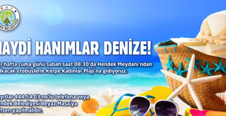 Hendek'ten Kadınlar Plajına ücretsiz servis