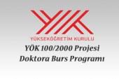 YÖK 100/2000 Projesi için desteklenen üniversiteler ve alanları belli oldu