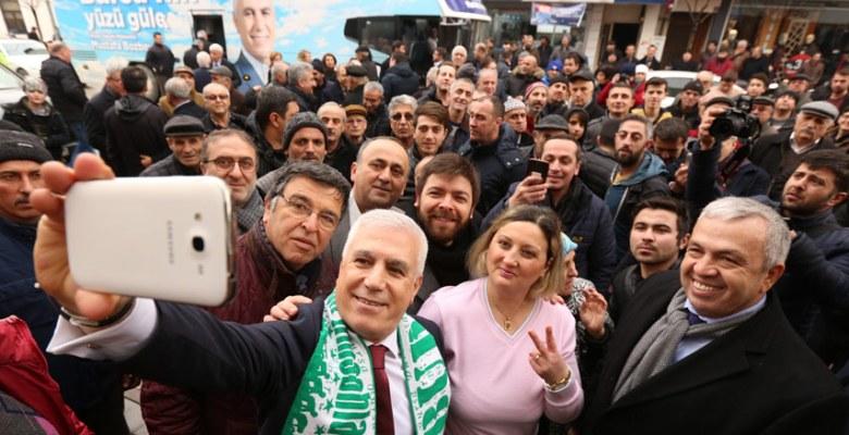 Bozbey Bursa'da coşkuyla karşılandı