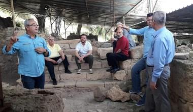 Meclis üyeleri Antandros'ta incelemelerde bulundular