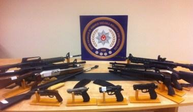 Bursa merkezli 5 ilde silah operasyonu: 28 gözaltı